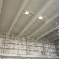 车库顶板无机纤维喷涂