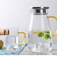 玻璃冷水壶套装耐热防爆锤纹泡茶壶客厅大容量加厚凉水壶水杯
