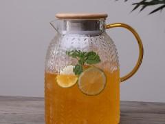 家用锤纹冷水壶防爆耐热高温玻璃凉水壶凉开水杯子大容量茶壶套装 (55播放)