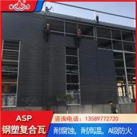 厂家直销树脂钢塑瓦 山东聊城防腐覆膜板 钢结构厂房用瓦