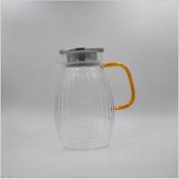 宽纹冷水壶  玻匠人玻璃茶具厂家