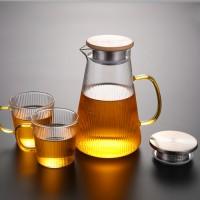 竖纹玻璃水壶 玻匠人十大品牌茶具