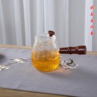 侧把麦穗玻璃水壶 玻匠人十大品牌茶具