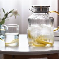 玻璃冷水壶 细条纹