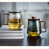 透黑木璃玻璃办公三件杯 玻匠人十大品牌茶具